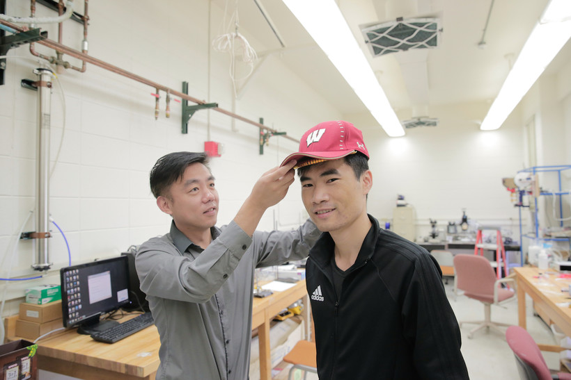 Xudong Wang and colleagues developed an device — unobtrusive enough to fit under a cap — that harnesses energy from the wearer and delivers gentle electric pulses to stimulate dormant hair follicles and regrow hair.