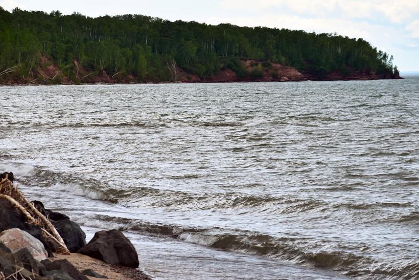 Clay Banks Are Eroding Along Lake Superior