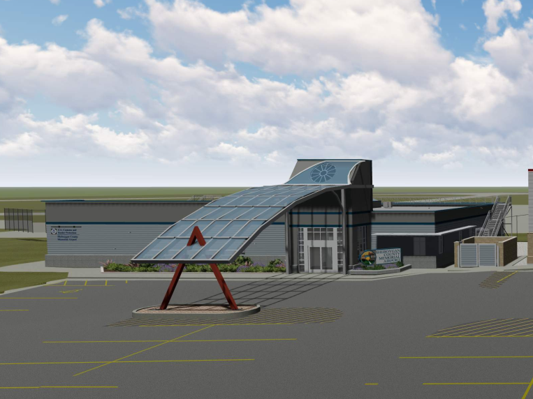 rendering of the U.S. Customs facility at the Sheboygan County Memorial Airport