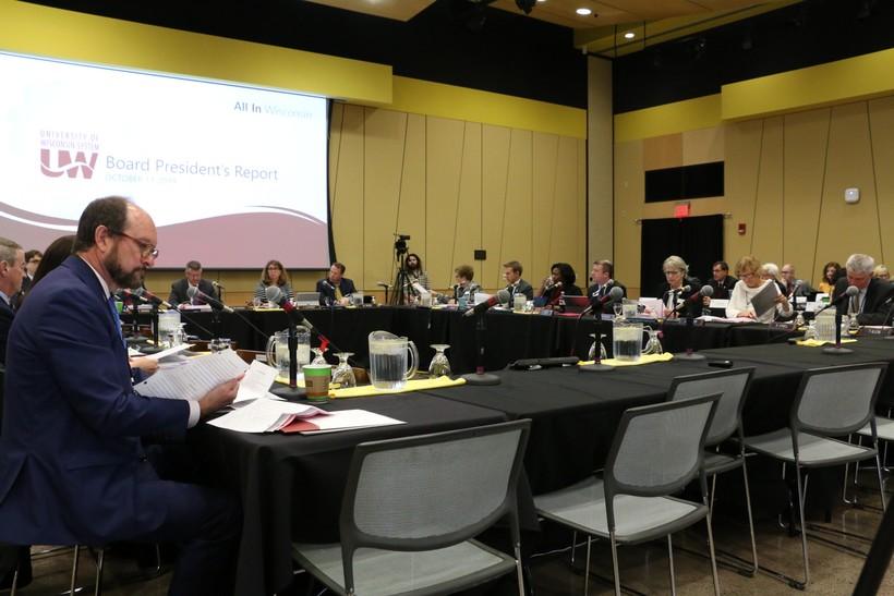 The University of Wisconsin Board of Regents meeting