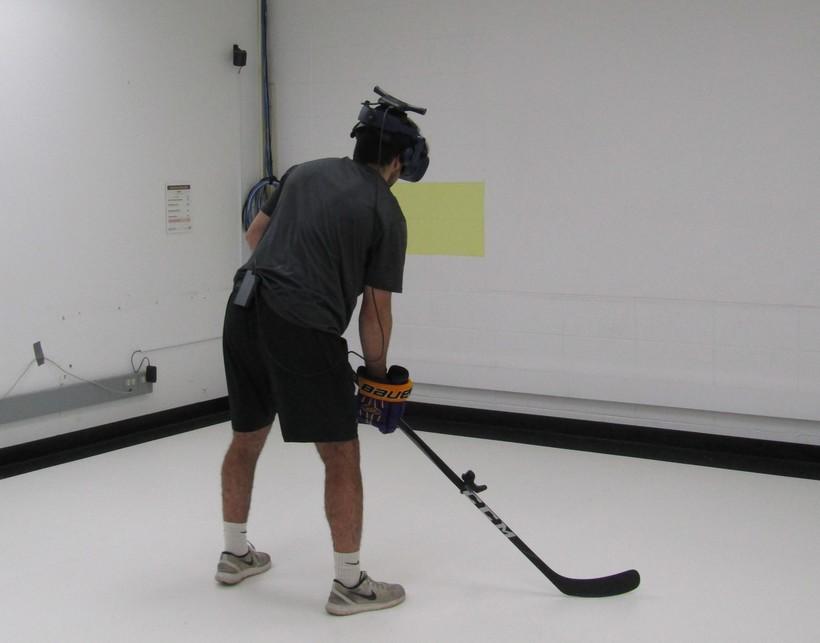 Hockey in virtual reality at UW-Stevens Point