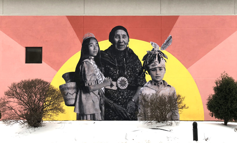 Mural, Native Americans, Lawrence University