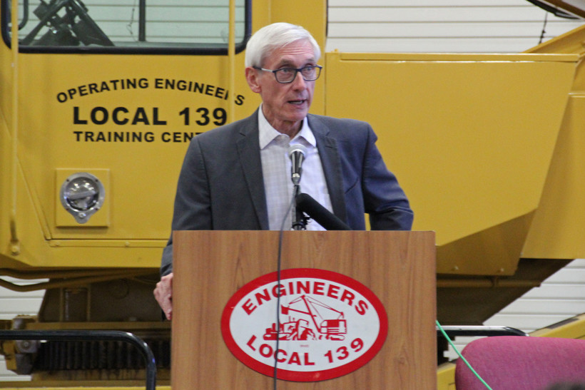 Gov.-elect Tony Evers speaks to high school students