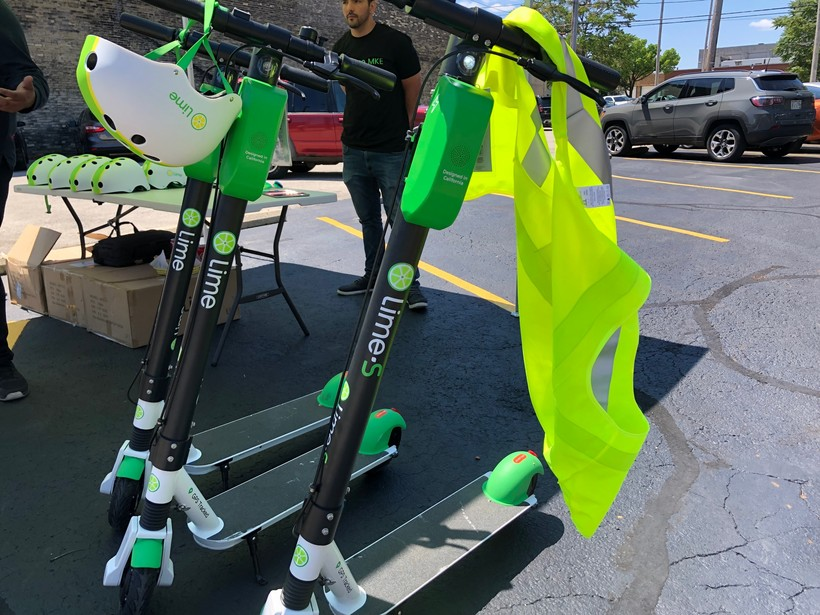 Scooters at the Lime Ride Academy