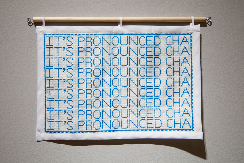 It's Pronounced Cha, Tshab Her, art, embroidery, Hmong, culture