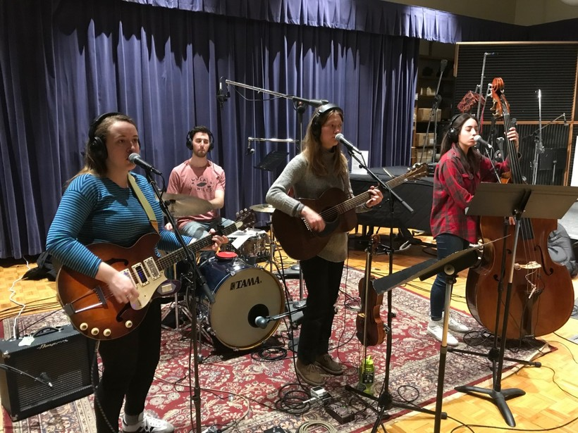 Folk Band Lula Wiles in Wisconsin Public Radio Studio