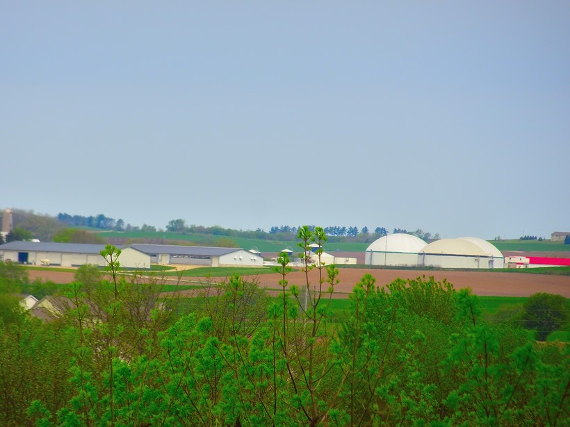Manure digester north of Waunakee