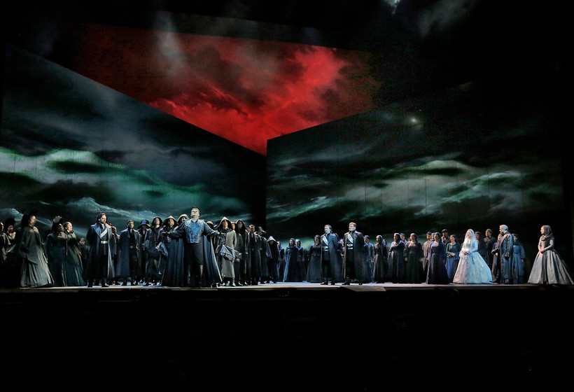 "A scene from the Met production of Verdi's ""Otello."""