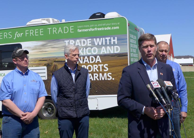 Ron Kind talks tariffs on the farm