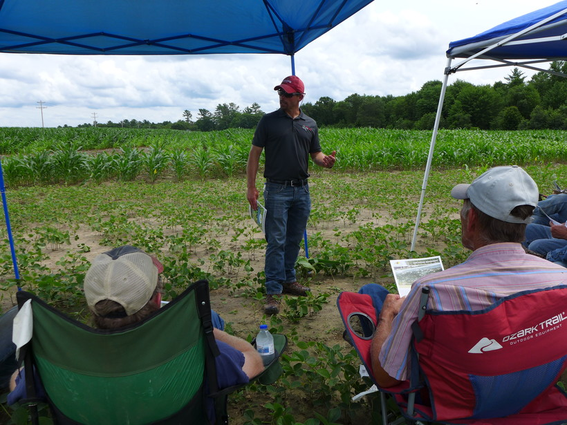 Damon Smith talks to farmers