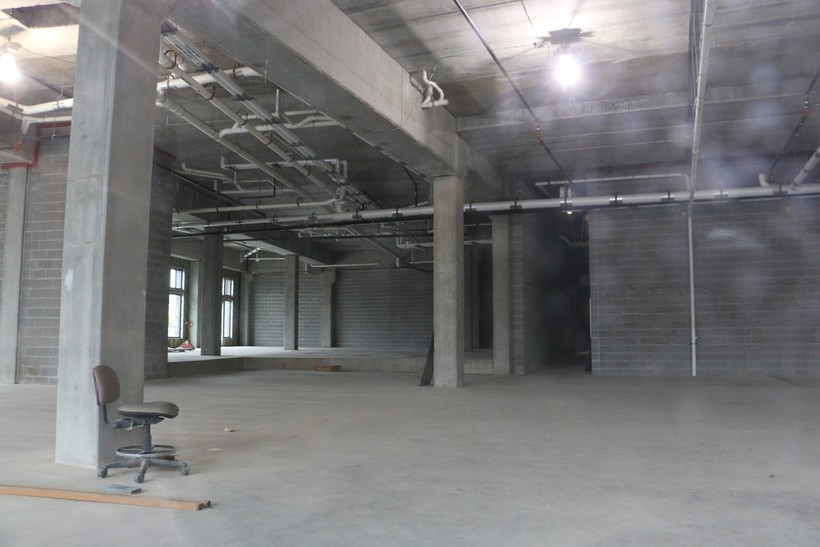 Empty Foxconn building interior