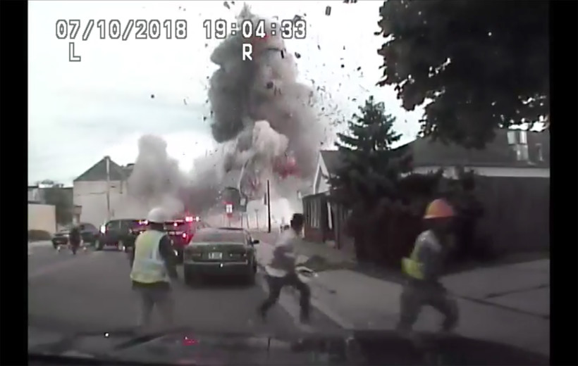 Sun Prairie Police squad video shows the gas explosion