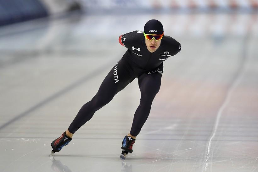 Emery Lehman skates at the Pettit National Ice Center