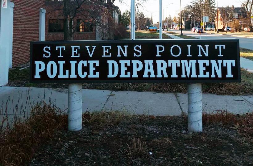 Stevens Point Police Department sign