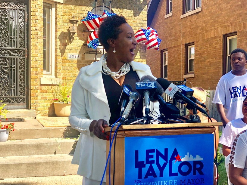 State Sen. Lena Taylor announces her bid for Milwaukee Mayor