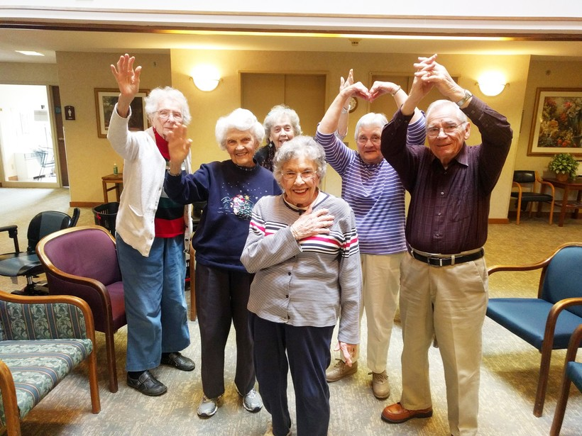Residents at Luther Manor in Milwaukee