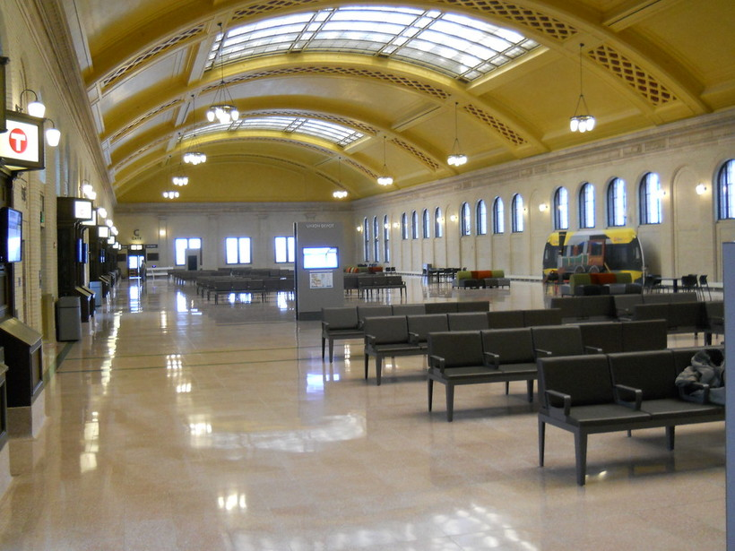 The Union Depot lobby in St. Paul.