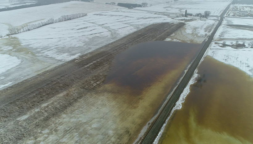 Manure runs off farm fields