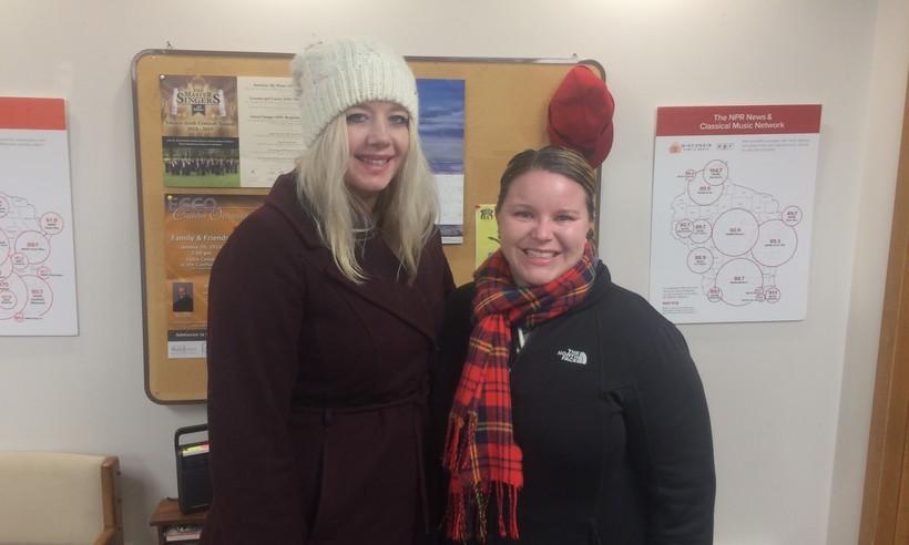 Hannah Larson (left) and Holly Gums