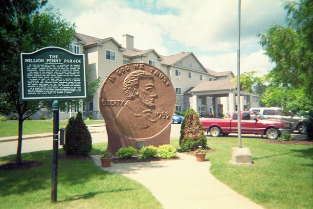 The world's largest penny