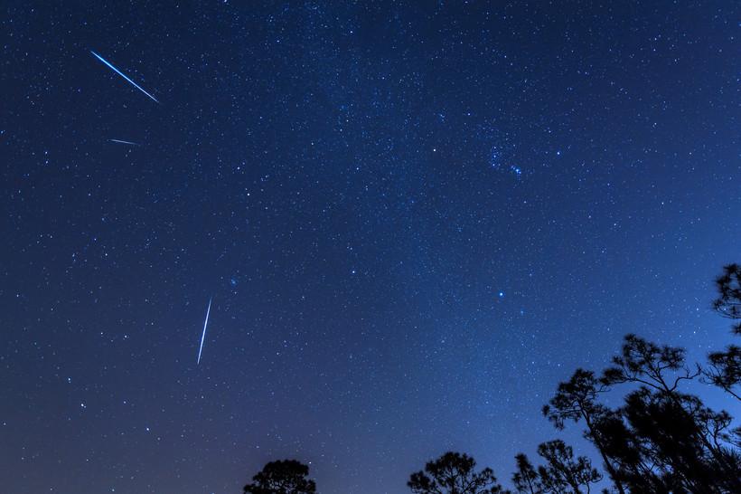 geminid, meteor, shower, sky, night, astronomy