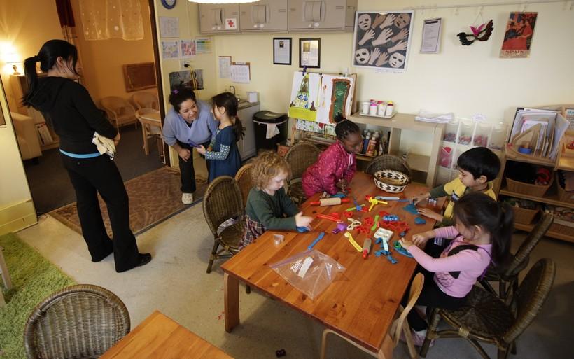 Pre-schoolers in class