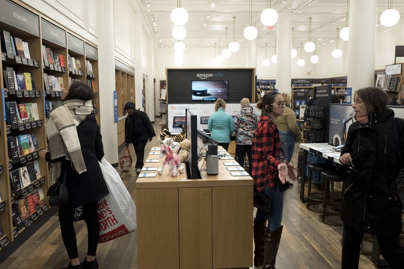A brick-and-mortar Amazon bookstore in New York