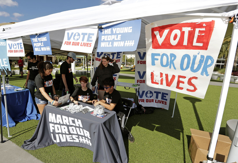 March For Our Lives booth