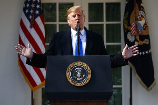 President Trump speaks in the Rose Garden