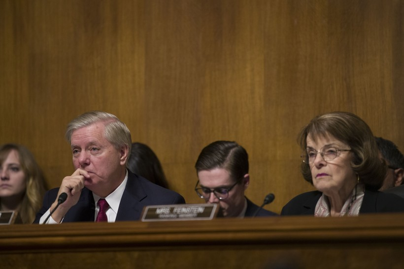 Sens. Lindsey Graham (R, South Carolina) and Dianne Feinstein (D, Calif.)