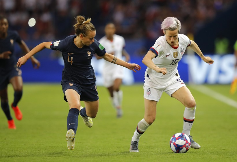 French and US players in Women's World Cup in France
