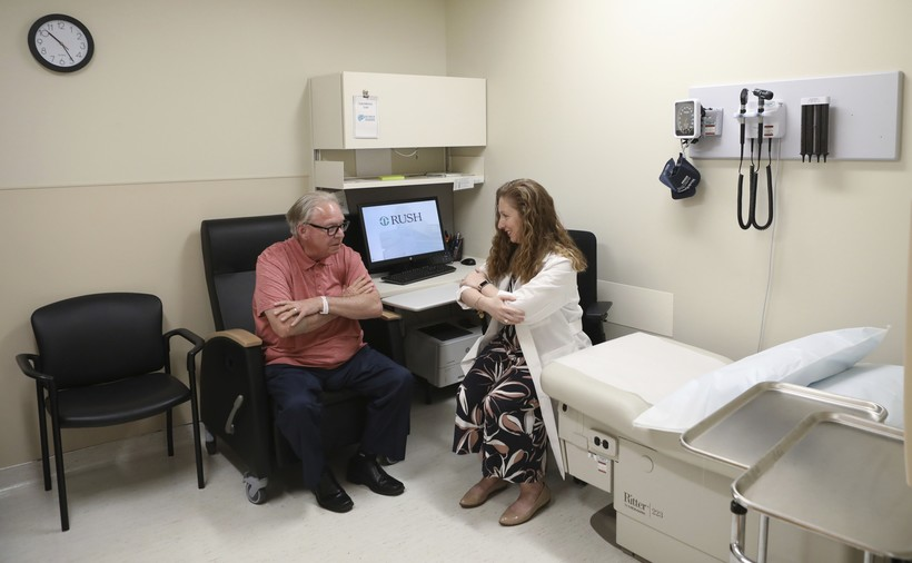 A patient with Lewy body dementia
