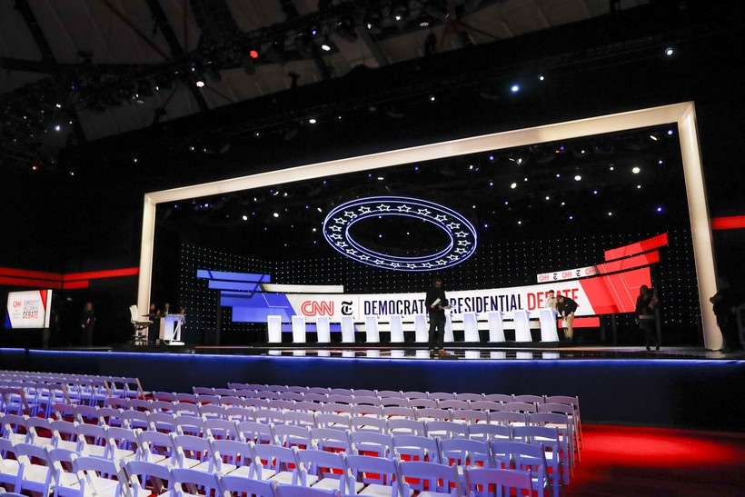 stage for 4th Democratic debate