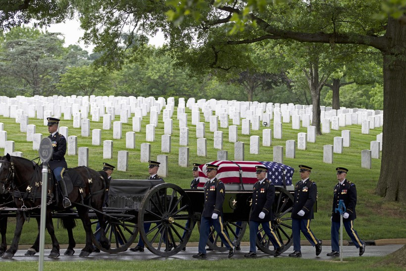 Burial at Arlington national cemetery