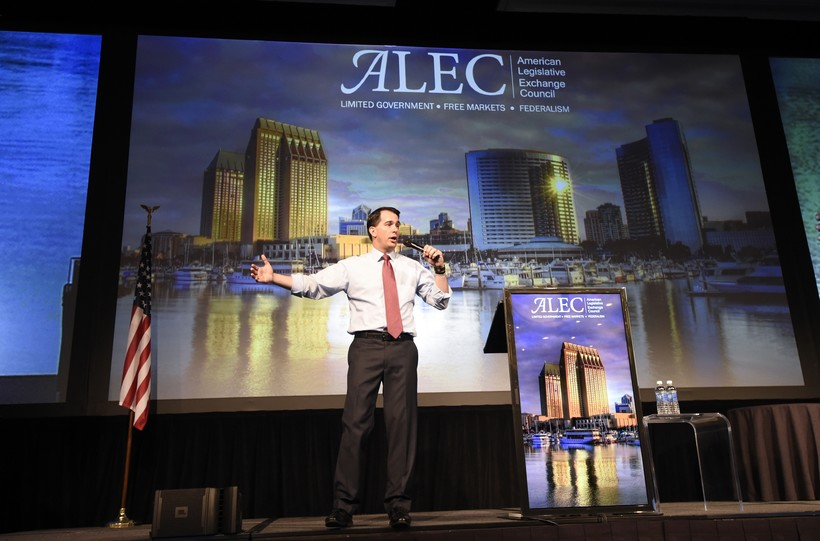 walker ALEC exchange council legislation