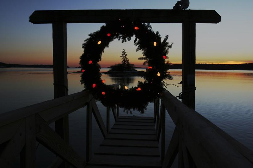 Holiday reef at dusk