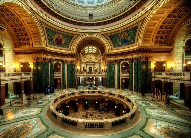 Interior of the Wisconsin State Capitol Rotunda