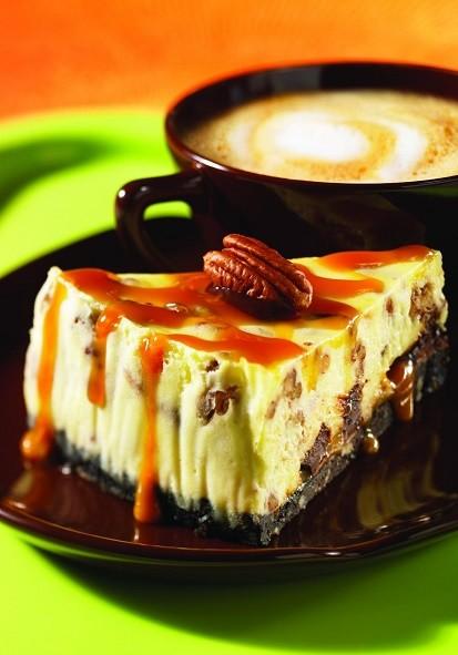 caramel pecan cheesecake latte