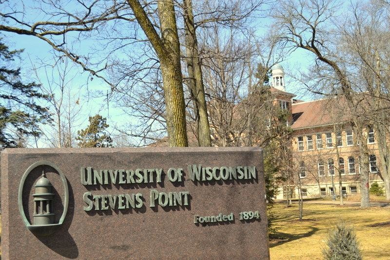 UW-Stevens Point sign