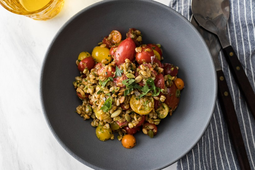 Heirloom Tomato Farro Bowl