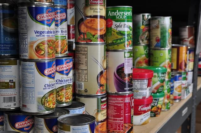 Picture of cans of food