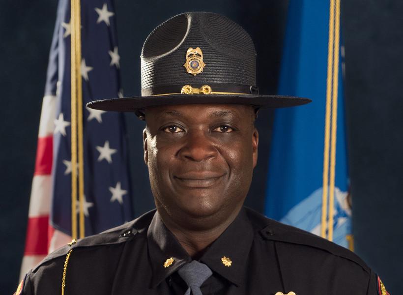 State Patrol Superintendent Anthony Burrell