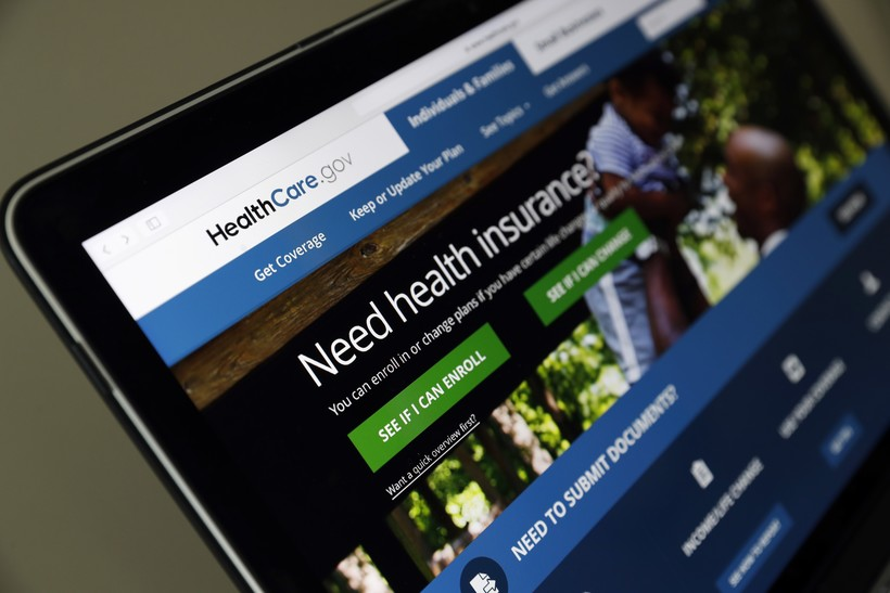 The Healthcare.gov website is seen on a laptop computer.