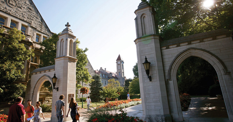 The Indiana University Bloomington campus