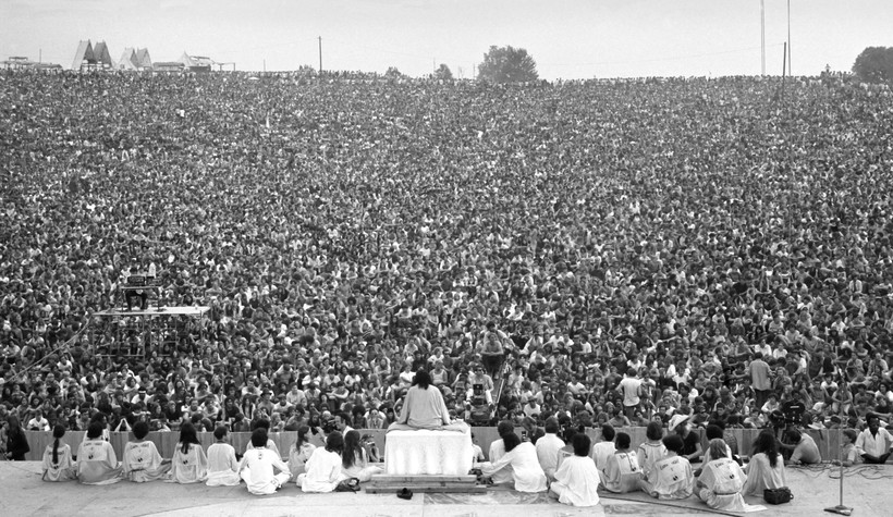 Swami Satchidananda at Woodstock