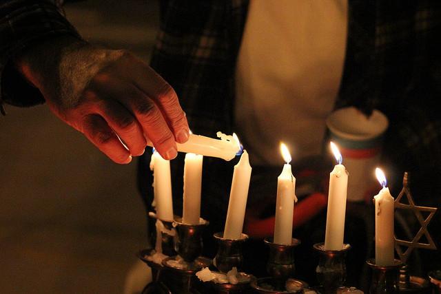 Lighting a Menorah, Hanukkah