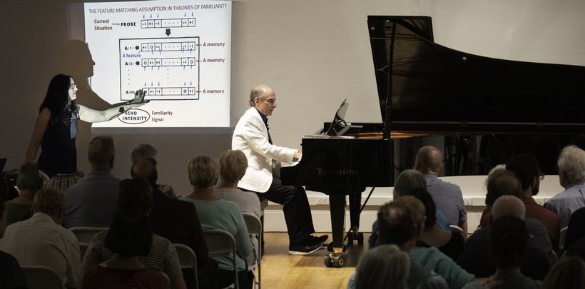 Bruce Adolphe performs piano demonstrations