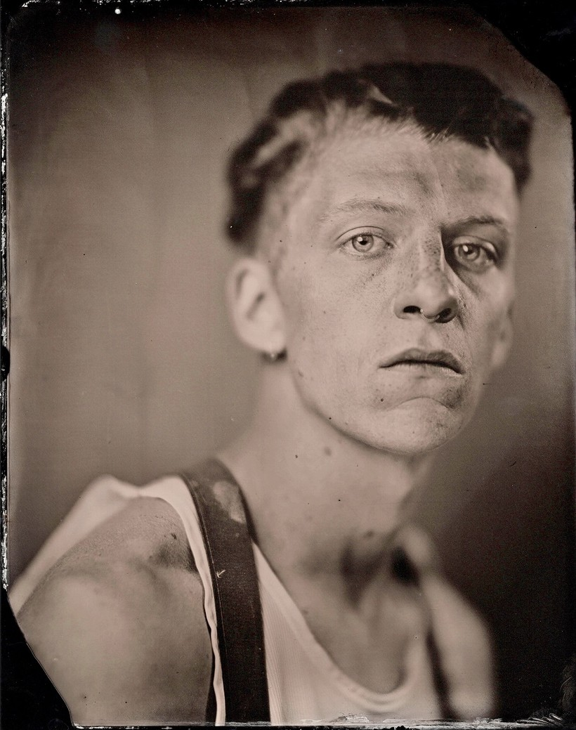 Example of tintype photography