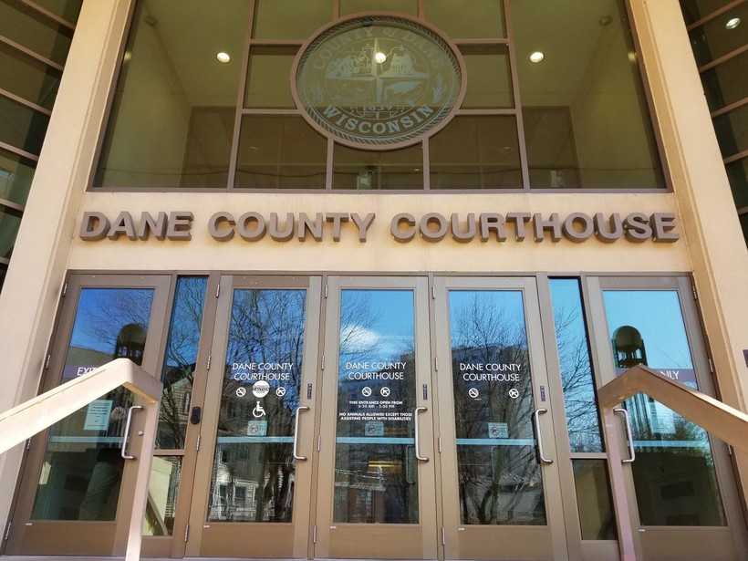 Front of the Dane County Courthouse