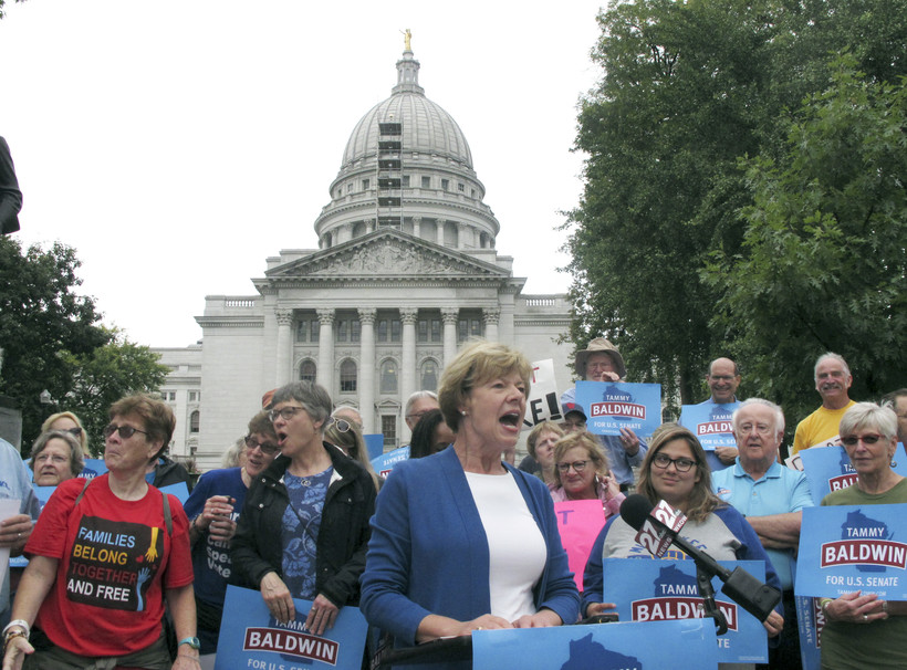 Tammy Baldwin campaigning